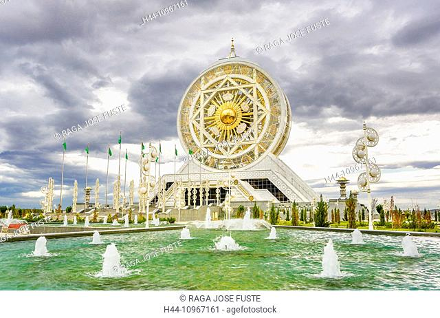 Alem, Ashgabat, Cultural, Turkmenistan, Central Asia, Asia, architecture, biggest, center, city, colourful, entertainment, ferry, fountains, indoor Ferris