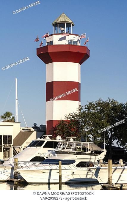 Early Morning at Harbour Town Lighthouse in Sea Pines Resort on Hilton Head Island, South Carolina
