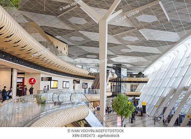 Heydar Aliyev International airport interior, Baku, Azerbaijan