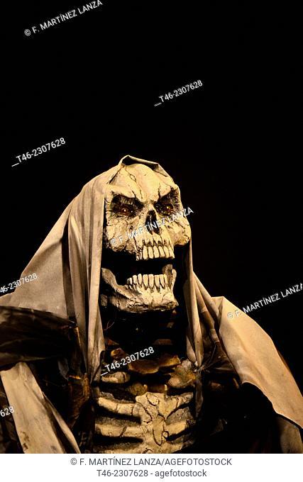 Skelleton, Halloween party, Madrid, Spain