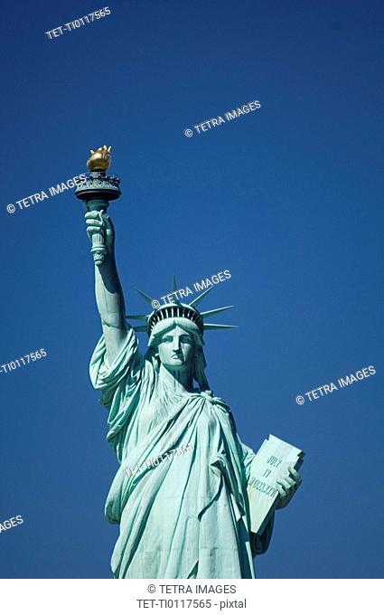Closeup of Statue of Liberty New York NY