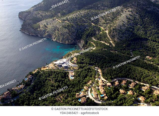 Aerial view of south coast, Majorca, Balears Island, Spain
