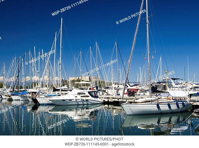 Antibes, South of France, the port Date: 11 03 2008 Ref: ZB726-111145-0001 COMPULSORY CREDIT: World Pictures/Photoshot