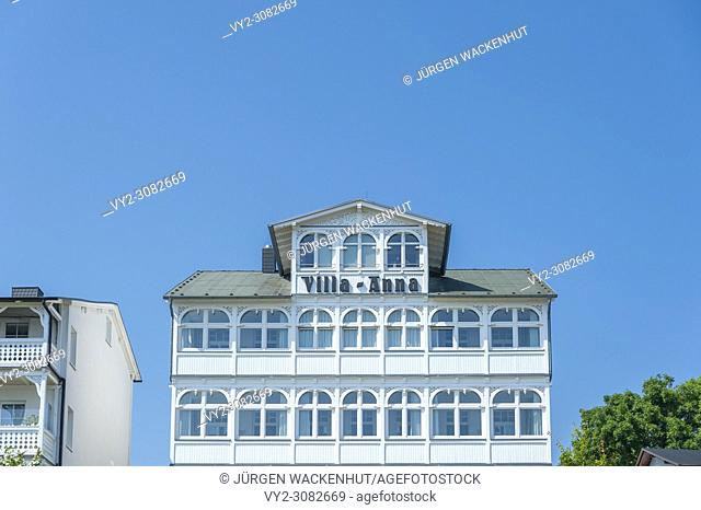 Historic villa in the old town, Sassnitz, Rügen, Mecklenburg-Vorpommern, Germany, Europe
