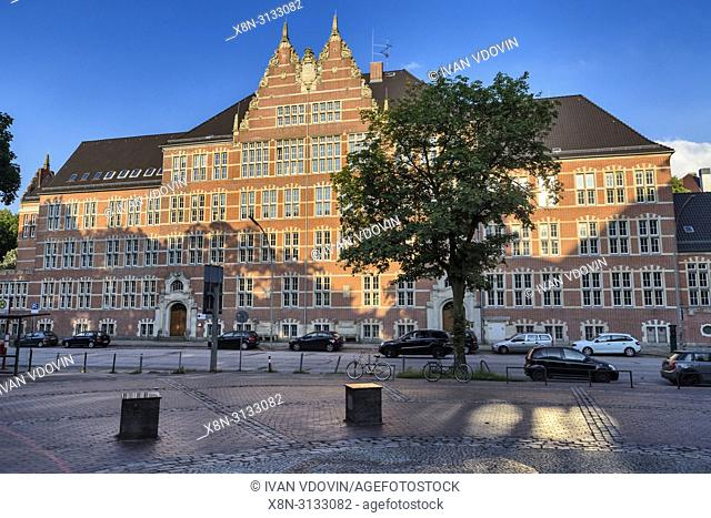 Vintage building, Hollstenwall street, Hamburg, Germany