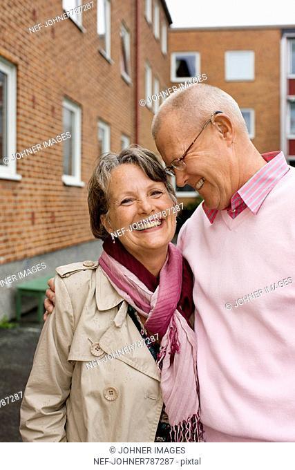 A senior couple, Sweden
