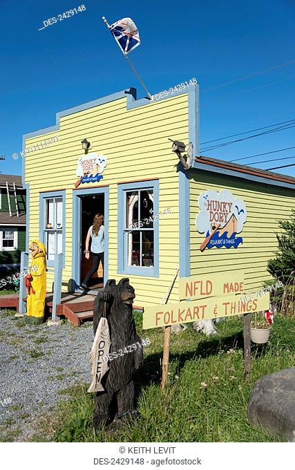 Shop selling newfoundland made items, Gros Morne National Park; Newfoundland, Canada