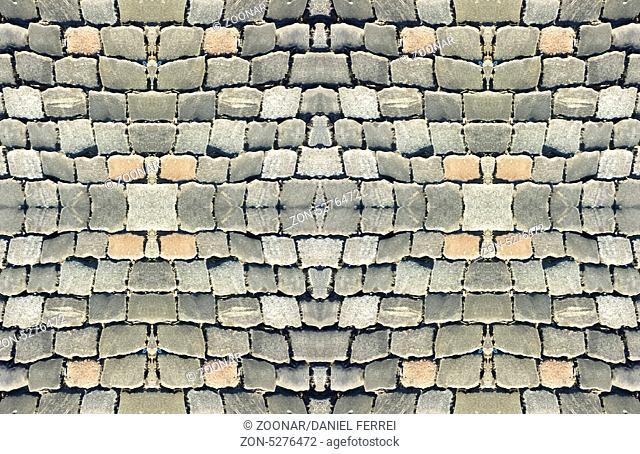 Digital mockup cobbles street tile able pattern us