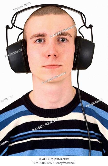 The man in earphones