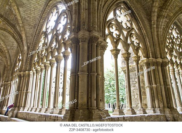 Cathedral cloister in Lleida city Catalonia Spain