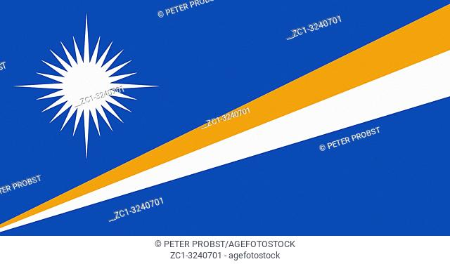 Flag of the Republic of the Marshall Islands