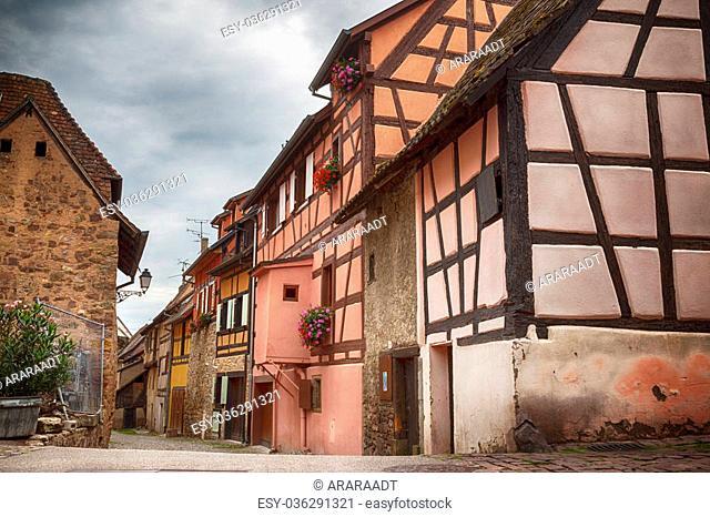 Alsace village Eguisheim in Strasbourg region