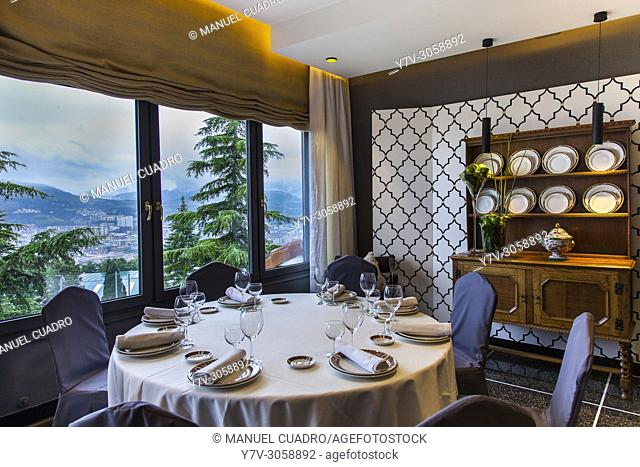 Dining room. El Txakoli Restaurant, Archanda, Bilbao, Biscay, Basque Country