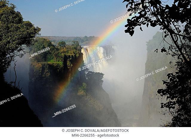 Falls looking toward south, Victoria Falls, Zimbabwe, Africa