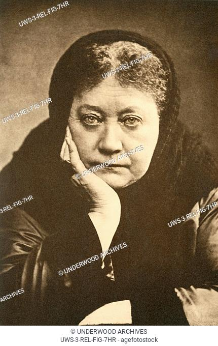 c. 1880.A portrait of Helena Blavatsky, Russian occultist and co-founder of the Theosophical Society