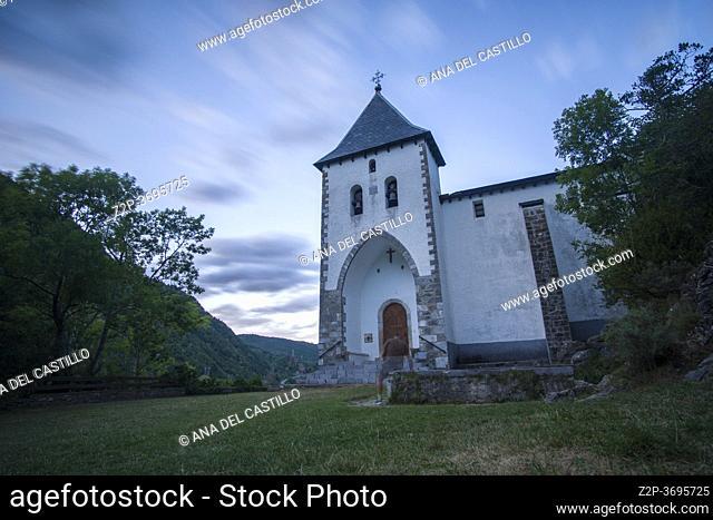 Santa Elena Hermitage, Biescas in Tena Valley, Pyrenees, Huesca Province, Aragon in Spain