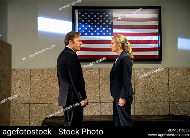 Bob Odenkirk & Rhea Seehorn Characters: Saul Goodman, Kim Wexler Television: Better Call Saul (TV-Serie) Usa 2015-, 08 February 2015