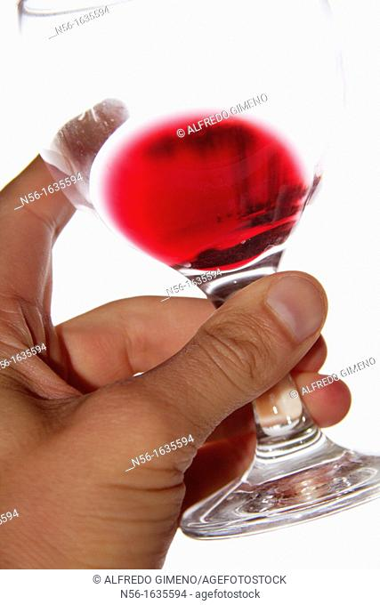 TESTING GLASS OF WINE