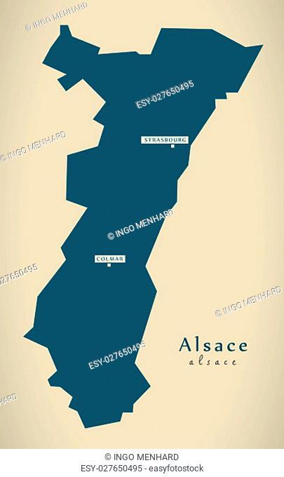 Modern Map - Alsace France FR illustration