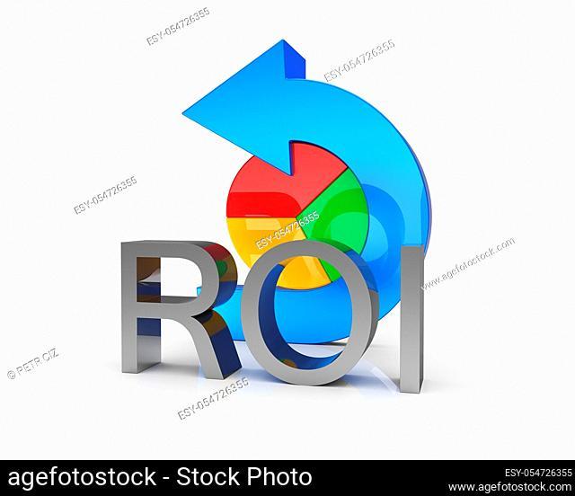 Return on investment symbol, finance, banking, analyze data, financial planning, stock market, strategic management