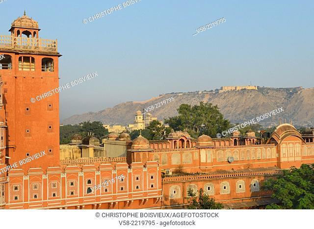 """India, Rajasthan, Jaipur, Hawa Mahal, """"""""Palace of Winds"""""""""""