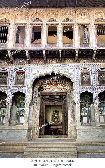 India, Rajasthan, Nawalgarh, local haveli