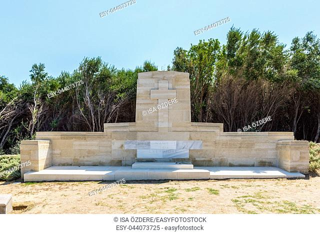 Beach Cemetery at the Anzac Cove, in Gallipoli, Canakkale, Turkey. Beach Cemetery contains the remains of allied troops who died during the Battle of Gallipoli