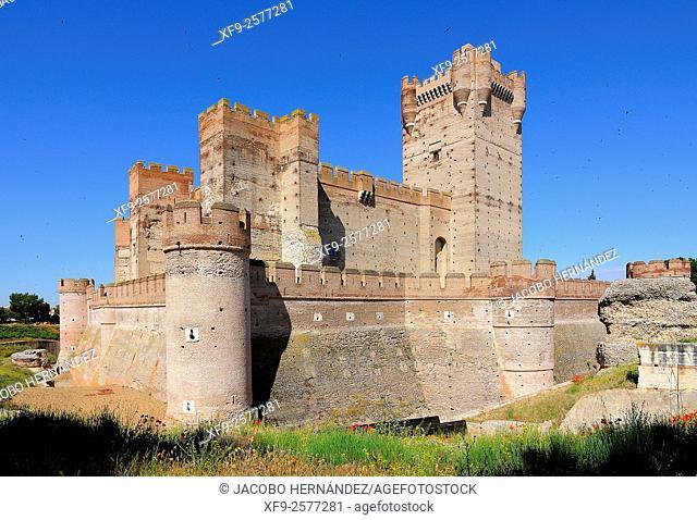 Castle of La Mota.Medina del Campo.Valladolid province.Castilla y León.Spain