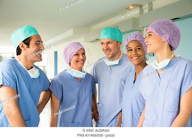 Medical team smiling