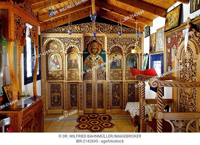 Pilgrimage church Saint Irini near Kampos, Samos island, southern Sporades, Aegean sea, Greece, Europe