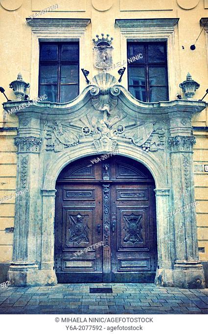Bratislava Old Town Wooden Doors, Slovakia, Eastern Europe