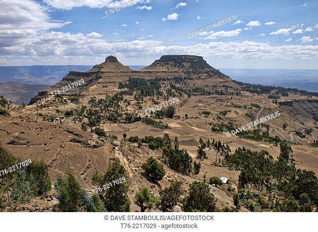 typical highland scenery near Lalibela, Ethiopia