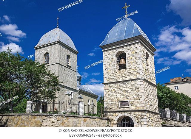 16th century Church of the Exaltation of the Cross, oldest church in Ternopil city, administrative center of the Ternopil Oblast region in western Ukraine