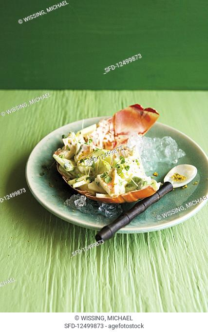 Caribbean langoustine salad with Granny Smith apples and avocado
