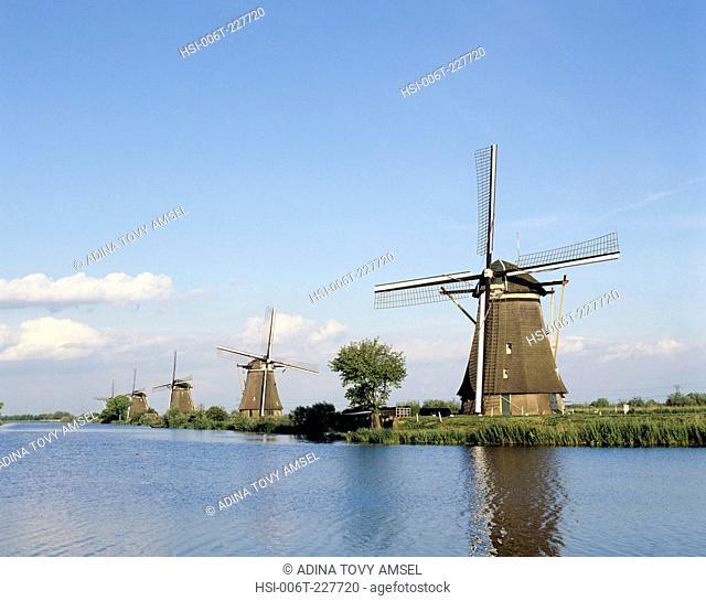Netherlands. Windmills. Zaanse Schans Mills