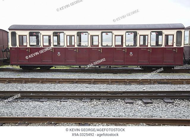 Carriage of Ffestiniog and Welsh Highland Railways; Porthmadog; Wales; UK