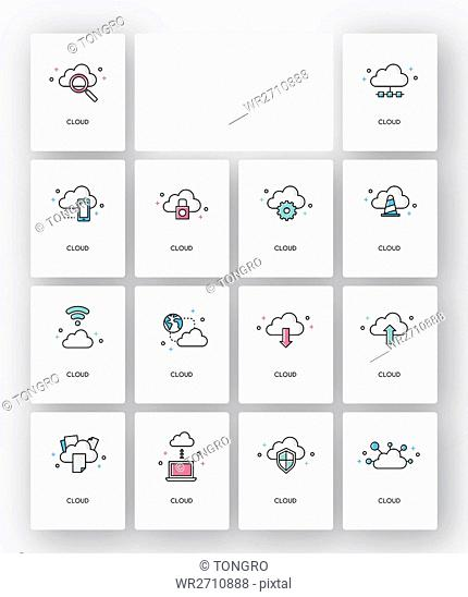 Various icons related to Cloud