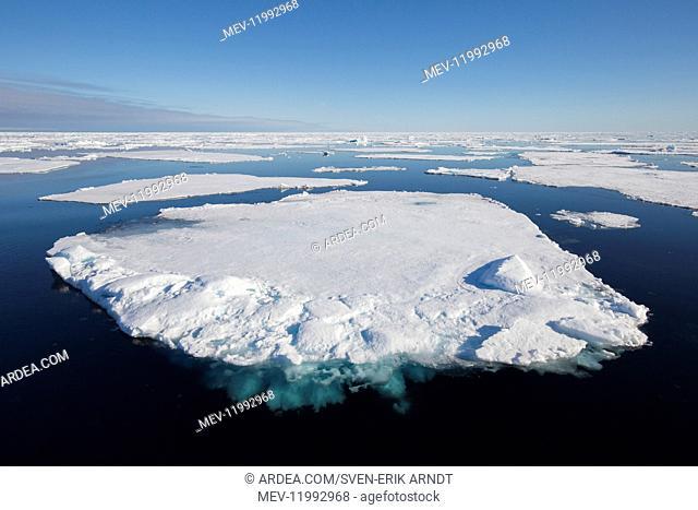 Drifting ice in the arctic sea near Nordaustland - Svalbard - Norway