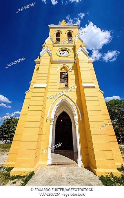 Exterior of the Eknakan church, Yucatan (Mexico)