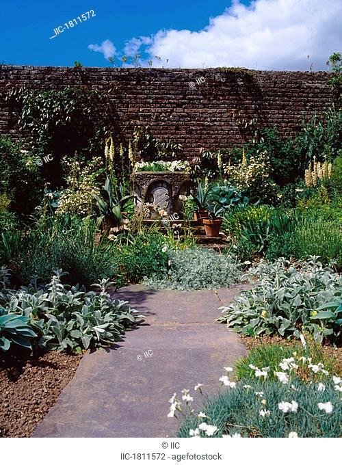 Lodge Park Walled Garden, Co Kildare, Ireland, White and Silver Garden