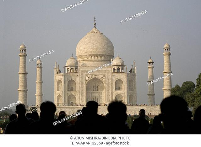 Taj mahal    constructed by emperor Shah Jahan Agra ; Uttar Pradesh ; India