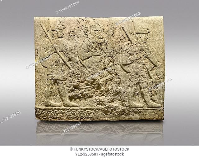 Hittite relief sculpted orthostat stone panel of Long Wall Limestone, Karkamis, (Kargamis), Carchemish (Karkemish), 900-700 BC