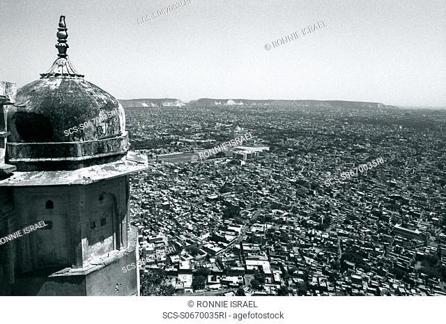 Jaipur city panoramic view India