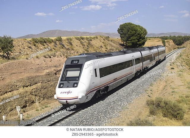 Sevilla - Almeria Regional Train. Guadix, Granada, andalucia, Spain, Europe