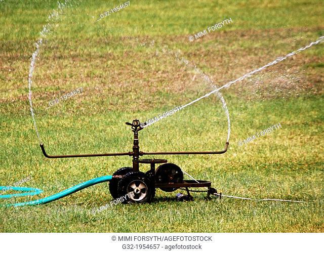 Wasteful irrigation (evaporating)