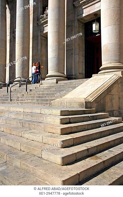 stairs, post and telegraph building, 1927, architect Josep Goday i Casals, Barcelona, Catalonia, Spain