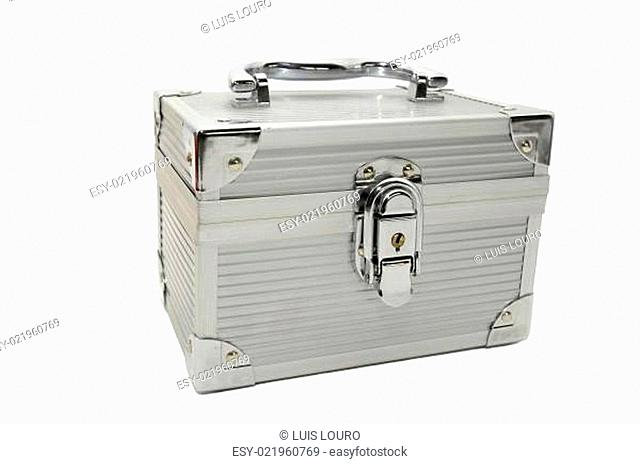 Metal box isolated in white