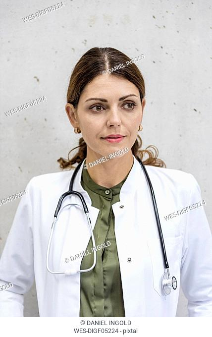 Portrait of a female doctor with stethoscope