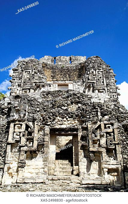Structure XX, Chicanna Mayan Archaeological Site, Mixture of Chenes and Rio Bec style, Late Classic Period, Campeche, Mexico