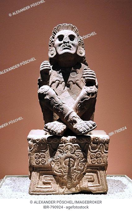 Xochipilli, Pre-Columbian god, museum piece, Museo Nacional de Antropología, National Museum of Anthropology, Mexico City, Mexico, North America